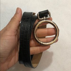 """Made in Italy"" Genuine Leather Belt 